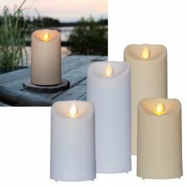 LED Kerze für Außen -TWINKLE-Outdoor- 12,5/17,5x7,5cm bewegte Flamme Timer - Bild vergrößern