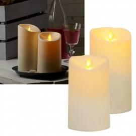 LED-Kerze Outdoor -BIG TWINKLE- 15/17x9cm bewegte Flamme für Außen mit Timer - Bild vergrößern