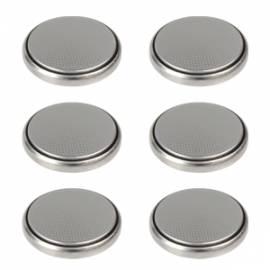 6 er Pack Batterien Knopfzellen Typ CR2032 3V  zB für Led Teelichter - Bild vergrößern