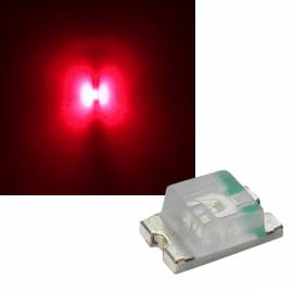 SMD Leds 0805 tief-rot 630-640nm 1,8-2,6V 20mA - Bild vergrößern