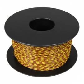 100 Meter flexible Litze / Kabel GELB-BRAUN 0,14mm² Ringdruck zweifarbig - Bild vergrößern