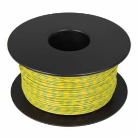 100 Meter flexible Litze / Kabel GELB-GRÜN 0,14mm² Ringdruck zweifarbig - Bild vergrößern