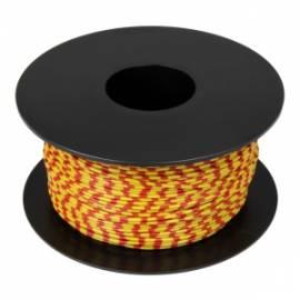 100 Meter flexible Litze / Kabel GELB-ROT 0,14mm² Ringdruck zweifarbig - Bild vergrößern