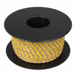 100 Meter flexible Litze / Kabel GELB-VIOLETT 0,14mm² Ringdruck zweifarbig - Bild vergrößern