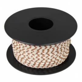 100 Meter flexible Litze / Kabel WEIß-BRAUN 0,14mm² Ringdruck zweifarbig - Bild vergrößern