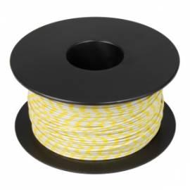 100 Meter flexible Litze / Kabel WEIß-GELB 0,14mm² Ringdruck zweifarbig - Bild vergrößern