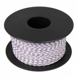 100 Meter flexible Litze / Kabel WEIß-VIOLETT 0,14mm² Ringdruck zweifarbig - Bild vergrößern