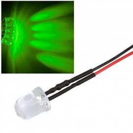 10x 10mm Leds GRÜN mit 25cm Kabel 12 Volt DC / Led fertig verkabelt 12 V, cable wired - Bild vergrößern