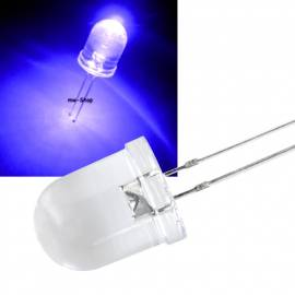 10mm Led uv ultraviolett 300mcd 15° 400~405nm 3,2-3,4V 20mA - Bild vergrößern