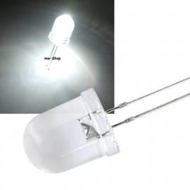 10mm Led weiß 12000mcd 15° ~6000K 3,2-3,4V 20mA - Bild vergrößern