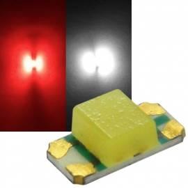 SMD Leds 1206 rot-weiß Typ S1206RWY-11K6 Duo 2-Chip - Bild vergrößern