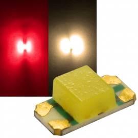 SMD Leds 1206 rot-warmweiß Typ S1206RWY-11K3 Duo 2-Chip - Bild vergrößern