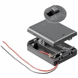Batteriefach 3x AA geschlossen mit EIN-AUS Schalter / Batteriehalter - Bild vergrößern