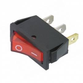 Wippschalter EIN/AUS mit rot beleuchteter Wippe 250V/15A 31x14mm - Bild vergrößern