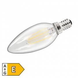 Led Leuchtmittel FILAMENT E14 -ET1451358- warmweiß 2700K 470lm 360° 230V 4W Kerzen-Form EKK: A+ - Bild vergrößern