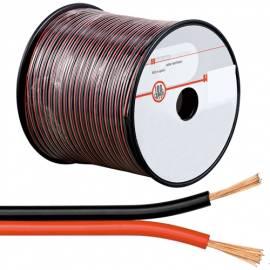 100m flexible Zwillings-Litze 2x0,5mm² ROT-SCHWARZ / Lautsprecher-Kabel - Bild vergrößern