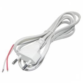 1,5m  weißes Netzkabel Eurostecker / blanke Enden 2,5A/250V / 0,75 mm² - Bild vergrößern