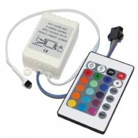 RGB LED Steuergerät Controller Steckertyp -A- mit Fernbedienung 12V - Bild vergrößern