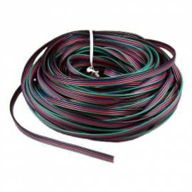 10m RGB Led Kabel / Litze, 4-adrig Anschlusskabel für RGB Strips & Co - Bild vergrößern