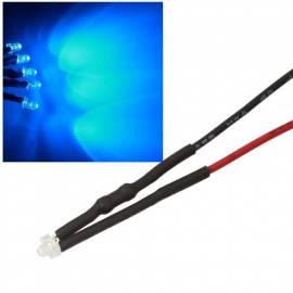 10x 1,8mm Leds BLAU mit 25cm Kabel 12 Volt DC / Led fertig verkabelt 12 V, cable wired - Bild vergrößern
