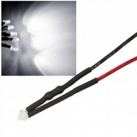10x 1,8mm Leds WEIß mit 25cm Kabel 12 Volt DC / Led fertig verkabelt 12 V, cable wired - Bild vergrößern