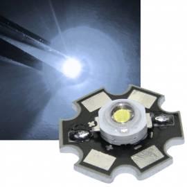 HighPower Led 1 Watt kaltweiß auf Star Platine 7000~8000K 65~75lm 3,1-3,3V 350mA - Bild vergrößern