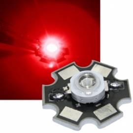 HighPower Led 1 Watt rot auf Star Platine 625~630nm 30~40lm 2,1-2,3V 350mA - Bild vergrößern