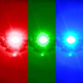 HighPower Led 1 Watt RGB auf Star Platine 350mA rot grün blau - Bild vergrößern