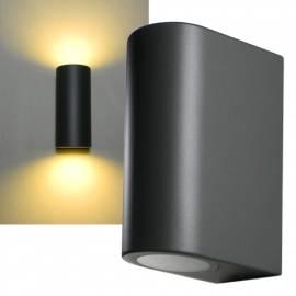 Wand-Leuchte -CTW-2 V2- anthrazit GU10 230V, IP44 Aussen-Bereich 2 flammig up & down - Bild vergrößern