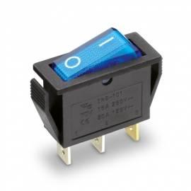 Wippschalter beleuchtet -SI-207595- EIN/AUS mit blau beleuchteter Wippe 250V/15A 31x14mm - Bild vergrößern