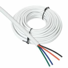 10m RGB Led Kabel / Litze WEIß UMMANTELT, 4-adrig Verlegekabel für RGB Strips Leuchten  & Co - Bild vergrößern