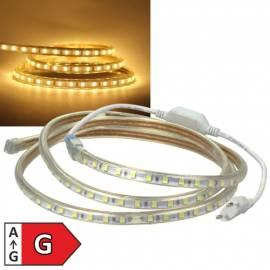 10m Smd Led Stripe -Ultra-Bright- warmweiß 6000 lm 230V 100W dimmbar EEK: A+ - Bild vergrößern