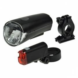 Led Fahrrad Beleuchtung Set -CFL30- batteriebetrieb 30Lux, Fahrradleuchten Fahrradlicht - Bild vergrößern
