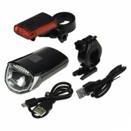 Akku Led Fahrrad Beleuchtung Set -CFL30 pro- 30Lux, Fahrradleuchten Fahrradlicht - Bild vergrößern