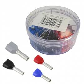 Sortiment mit ca. 200 Aderendhülsen TWIN Isoliert 0,75-2,5mm² - Bild vergrößern