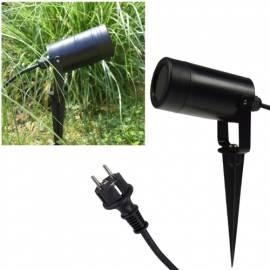 Led Gartenstrahler Kunststoff -KGL-110- schwarz für GU10 Leuchtmittel 230V inkl. Erdspieß - Bild vergrößern