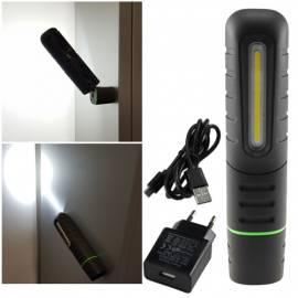 hochwertige AKKU Led Stableuchte -FlexiLED900- 800lm Magnethalter KFZ Werkstattlampe Arbeitsleuchte - Bild vergrößern