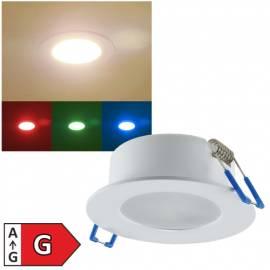 Erweiterungsleuchte -22980- RGB-Warmweiß Led Deckeneinbauleuchte IP44 300lm 230V 5W Innen & Außen - Bild vergrößern