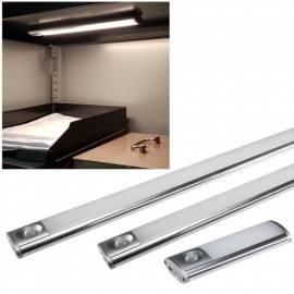 12/30/60cm Akku LED Unterbauleuchte mit PIR Bewegungsmelder kabellos Möbelleuchte Magnethalteplatte - Bild vergrößern