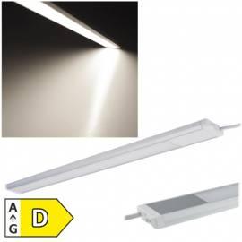 slim Led Unterbauleuchte -Comprido-400- IP20 neutral-weiß 40cm 430 Lumen 230V 6W, 12mm flach - Bild vergrößern