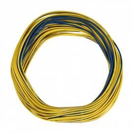 10m Zwillingslitze / Litze gelb-blau 2x 0,09mm² - Bild vergrößern