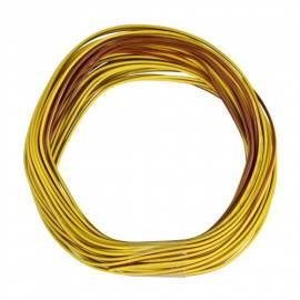 10m Zwillingslitze / Litze gelb-braun 2x 0,09mm² - Bild vergrößern