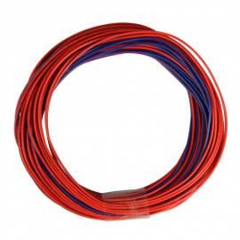 10m Zwillingslitze / Litze rot-blau 2x 0,09mm² - Bild vergrößern