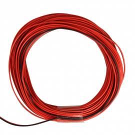 10m Zwillingslitze / Litze rot-schwarz 2x 0,09mm² - Bild vergrößern