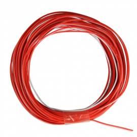 10m Zwillingslitze / Litze rot-weiß 2x 0,09mm² - Bild vergrößern