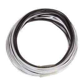 10m Zwillingslitze / Litze schwarz-weiß 2x 0,09mm² - Bild vergrößern
