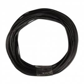 10m Zwillingslitze / Litze schwarz-schwarz 2x 0,09mm² - Bild vergrößern