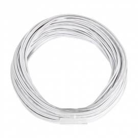 10m Zwillingslitze / Litze weiß-weiß 2x 0,09mm² - Bild vergrößern
