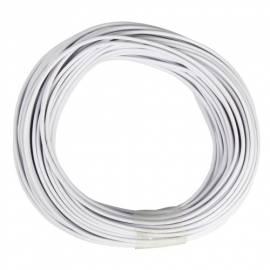10m Zwillingslitze / Litze weiß-weiß 2x 0,14mm² - Bild vergrößern