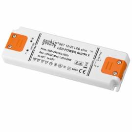 Slim Led Trafo 12V 0-20W IP20 extra flach - Bild vergrößern
